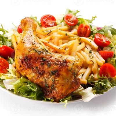 Cuisse de poulet roti