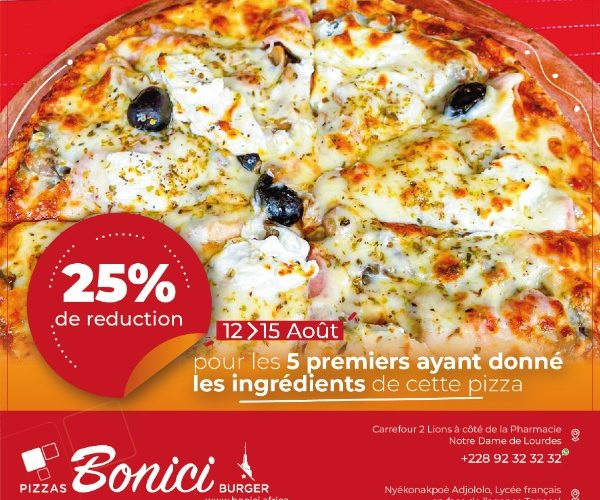 25% reduction for the first 5 who donated the ingredients for this pizza