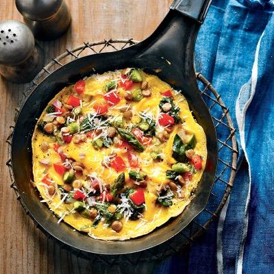 Omelettes aux légumes
