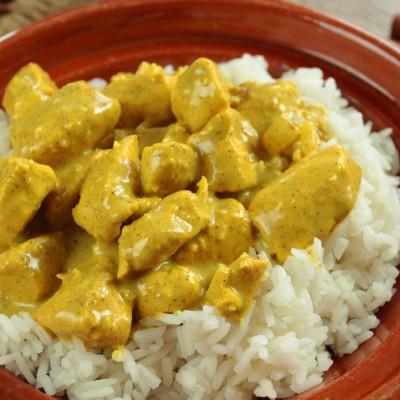 Sauté de viande curry a la crème